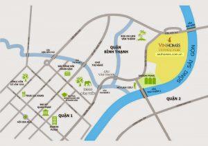 Vị trí đắc địa của dự án Vinhomes Central Park