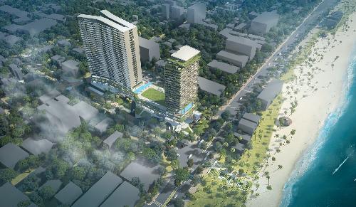 FLC Sea Tower Quy Nhơn có vị trí trung tâm thành phố Quy Nhơn (Bình Định).